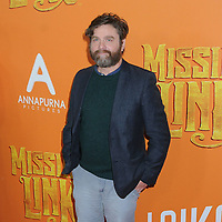 "07 April 2019 - New York, New York - Zach Galifianakis at the New York Premiere of ""MISSING LINK"", held at Regal Cinemas Battery Park II.<br /> CAP/ADM/LJ<br /> ©LJ/ADM/Capital Pictures"