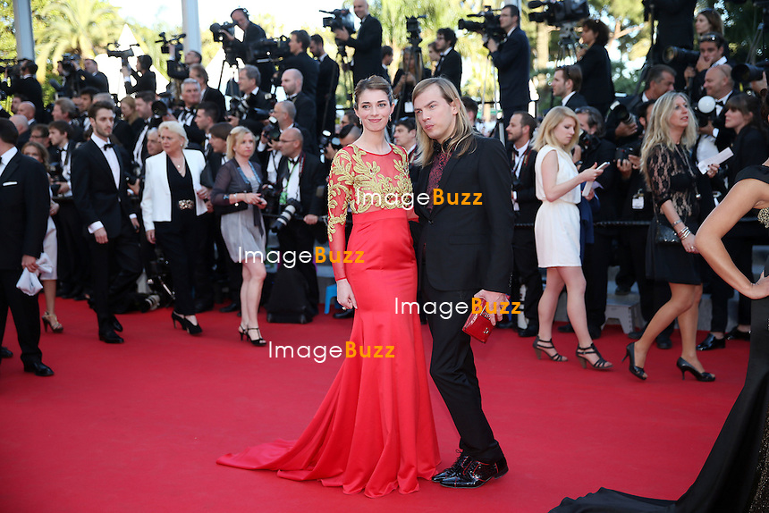 CPE/ Sarah Barzyk and Christophe Guillarme attends the 'Mr. Turner' premiere during the 67th Annual Cannes Film Festival on May 15, 2014 in Cannes, France