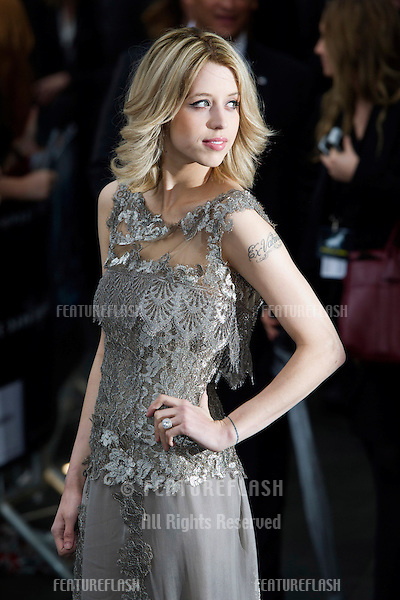 "Peaches Geldof arriving for European premiere of ""The Dark Knight Rises"" at the Odeon Leicester Square, London. 18/07/2012 Picture by: Simon Burchell / Featureflash"