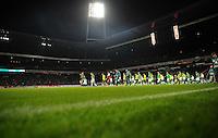 FUSSBALL   1. BUNDESLIGA   SAISON 2011/2012    9. SPIELTAG SV Werder Bremen - Borussia Dortmund                 14.10.2011 Einmarsch der Mannschaften ins Bremer Weserstadion