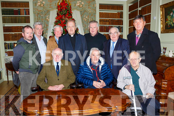 Killarney Deer Society celebrated their 50th anniversary in Killarney House on Saturday front row l-r: Noel Grimes Chairman, Dan Kelliher President, Ted O'Shea. Back row: Prank Joy, Padraig O'Sulleabhain, James O'Connor, Fr Dick Dowling representing his late father Michael Dowling, Pat Dawson, Sen Paul Coughlan and Paddy Cronin