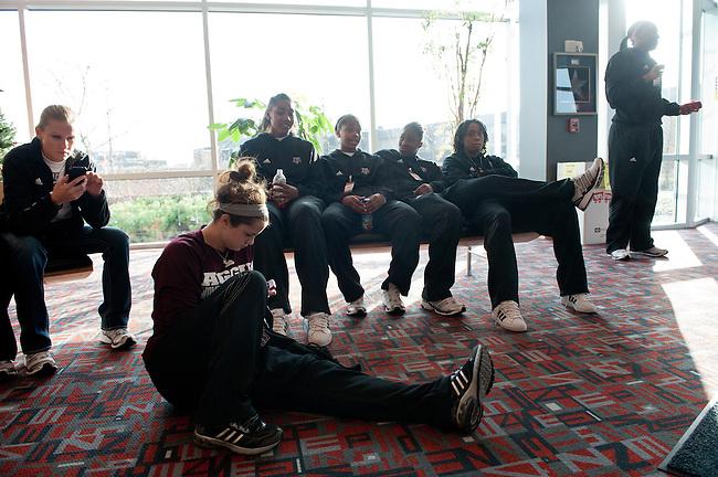 December  05, 2011 - Bristol, CT - ESPN Campus:  Texas A&M Women's Basketball team tours ESPN..Credit: /ESPN
