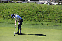 NFL Kansas City Chiefs quarterback Alex Smith putts on the 4th green at Spyglass Hill during Thursday's Round 1 of the 2018 AT&amp;T Pebble Beach Pro-Am, held over 3 courses Pebble Beach, Spyglass Hill and Monterey, California, USA. 8th February 2018.<br /> Picture: Eoin Clarke | Golffile<br /> <br /> <br /> All photos usage must carry mandatory copyright credit (&copy; Golffile | Eoin Clarke)