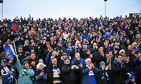 A general view of Bath supporters in the crowd applauding as the Bath United team parade the A-League trophy around the field at half-time. Aviva Premiership match, between Bath Rugby and Harlequins on December 21, 2013 at the Recreation Ground in Bath, England. Photo by: Patrick Khachfe / Onside Images