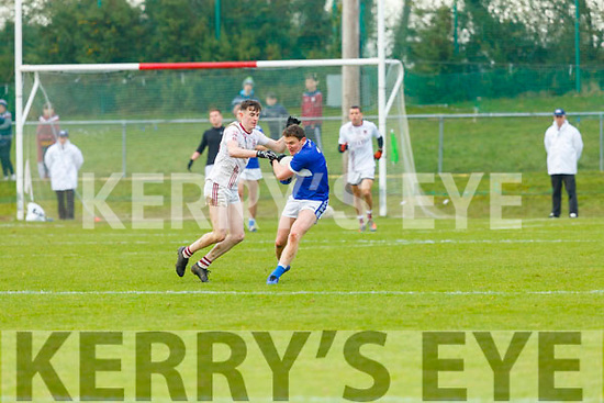 Templenoe's Tadhg Morley drives past St Brackan's Joseph McGann during the  Munster Intermediate Championship final  in Mallow on Sunday