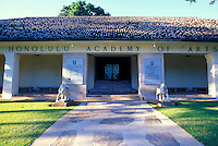 Front entrance to the Honolulu Academy of Arts, Honolulu