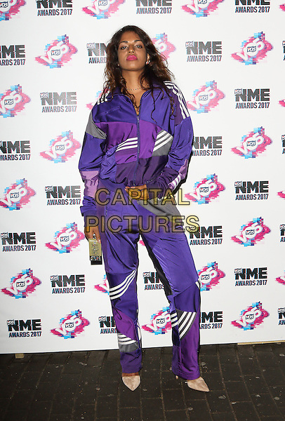 M.I.A at The VO5 NME Awards 2017 at the O2 Academy, Brixton, London on February 15th 2017<br /> CAP/ROS<br /> &copy;Steve Ross/Capital Pictures