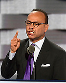 United States Representative Luis Gutierrez (Democrat of Illinois) makes remarks at the 2016 Democratic National Convention at the Wells Fargo Center in Philadelphia, Pennsylvania on Monday, July 25, 2016.<br /> Credit: Ron Sachs / CNP<br /> (RESTRICTION: NO New York or New Jersey Newspapers or newspapers within a 75 mile radius of New York City)