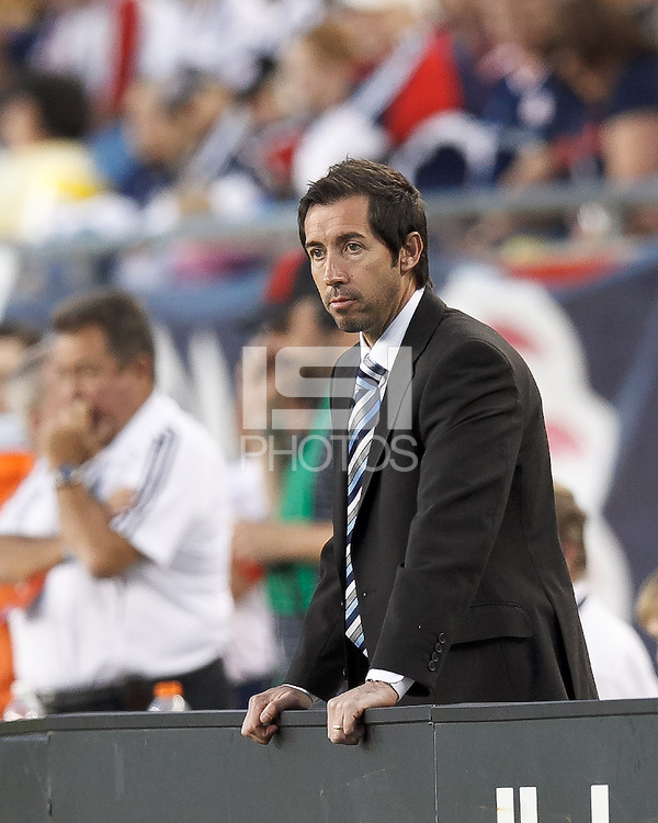 Vancouver Whitecaps FC head coach Martin Rennie. In a Major League Soccer (MLS) match, the New England Revolution defeated Vancouver Whitecaps FC, 4-1, at Gillette Stadium on May 12, 2012.