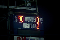 4th January 2020; Dens Park, Dundee, Scotland; Scottish Championship Football, Dundee FC versus Inverness Caledonian Thistle; Scoreboard showing final score - Editorial Use