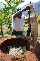 Gerardo making the Barbacoa for Annuska's 40th birthday.  Cuatepetitla, San Jose de los Laureles, Morelos, Mexico.
