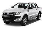 2016 Ford Ranger Wildtrak 4 Door Pickup Angular Front stock photos of front three quarter view