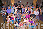 Double Celebrations, father & daughter duo Sean & Ellen Farley from Dromid celebrated their 50th & 21st birthday party's at The Waterville Lake Hotel on Saturday night pictured here seated centre surrounded by family and friends.