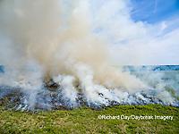 63863-02715 Summer prairie burn Prairie Ridge State Natural Area - aerial - Marion Co. IL