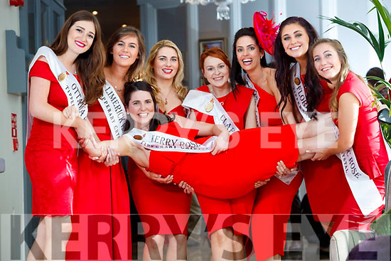 Ottawa Rose, Vanessa Foran, Limerick Rose, Kerry Rose, Breda O'Mahony, Kayleigh Maher, London Rose, Caoimhe Gallagher, Clare Rose, Aoife Murray, Sydney Rose, Aisling Walsh, Florida Rose, Elizabeth Marince and Washington Dc Rose, Sarah Robertson at the Rose Hotel, Tralee on Tuesday.