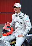 21.02.2012 Barcelona Spain. Formula One testind day1. Mercedes presents the F1 W03. German driver Michael Schumacher