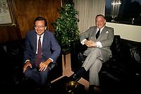 FILE -  Robert Bourassa et <br /> <br /> Jacques Parizeau circa  1990<br /> <br /> <br /> PHOTO  : Pierre Roussel - Agence Quebec Presse