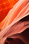 Abstract color pattern in Upper Antelope Slot Canyon
