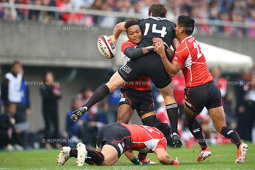 Kotaro Matsushima (JPN),<br /> NOVEMBER 8, 2014 - Rugby : <br /> International rugby friendly match <br /> between Japan XV 18-20 Maori All Blacks <br /> at Chichibunomiya Rugby Stadium, Tokyo, Japan. <br /> (Photo by Shingo Ito/AFLO SPORT) [1195]