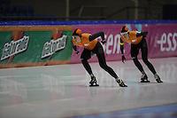 SCHAATSEN: HEERENVEEN: 01-02-2014, IJsstadion Thialf, Olympische testwedstrijd, Yvonne Nauta, Carien Kleibeuker, ©foto Martin de Jong
