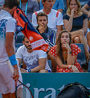 Paris, France, 27 May, 2018, Tennis, French Open, Roland Garros, Kim de Valk girlfriend of Robin Haase<br />