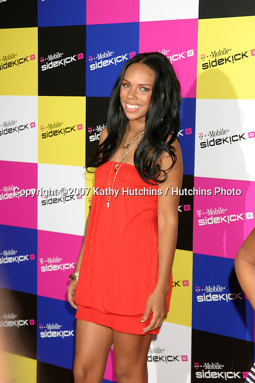 Kiely Williams.T-Mobile Sidekick Party.T-Mobile Sidekick Lot.Los Angeles, CA.April 14, 2007.©2007 Kathy Hutchins / Hutchins Photo....