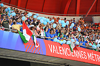 20190629 - VALENCIENNES , FRANCE : Italian fans and supporters pictured during the female soccer game between Italy  - Squadra Azzurrine - and The Netherlands  – Oranje Leeuwinnen - , a knock out game in the quarter finals of the FIFA Women's  World Championship in France 2019, Saturday 29 th June 2019 at the Stade du Hainaut Stadium in Valenciennes , France .  PHOTO SPORTPIX.BE | DAVID CATRY