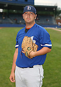 July 14th, 2007:  Scott Mueller of the Aberdeen Ironbirds, Class-A Short-Season affiliate of the Baltimore Orioles, poses for a photo before a game vs the Jamestown Jammers in New York-Penn League action.  Photo Copyright Mike Janes Photography 2007.