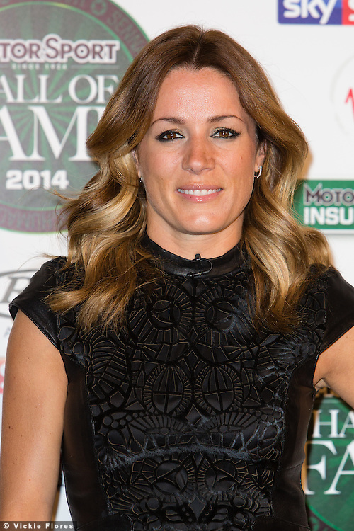 Natalie Pinkham arrives at the Motor Sport Hall of Fame 2014, held at the Royal Opera House in London on 29 January 2014. Photo by Vickie Flores.