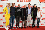 "Ingrid Garcia Jonsson, Jose Manuel Poga, Luis Tosar, Jose Sacristan, Mario Casas, Nya de la Rubia and Claudia Canal  attends to the presentation of the spanish film ""Toro"" at Hotel Hesperia in Madrid, April 19,2016. (ALTERPHOTOS/Borja B.Hojas)"