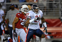 Oct. 16, 2006; Glendale, AZ, USA; Chicago Bears cornerback (21) Dante Wesley against Arizona Cardinals cornerback (22) Matt Ware at University of Phoenix Stadium in Glendale, AZ. Mandatory Credit: Mark J. Rebilas