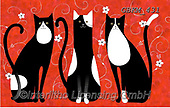 Kate, CUTE ANIMALS, LUSTIGE TIERE, ANIMALITOS DIVERTIDOS, paintings+++++Tall tails cats 3 #,GBKM431,#ac#, EVERYDAY ,cat,cats