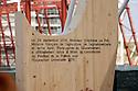 During the ceremony to start the construction work of the French pavilion at Expo Milano 2015 is discovered the first arc made of the Jura wood as it will be all over the pavilion; on the arch reads: On 29 September 2014, Mr. St&eacute;phane Le Foll, French minister of agriculture, agribusiness, forestry and government spokesman, has officially started the construction of the French pavilion at the Universal Exhibition in 2015.  Rho-Pero, Milan, September 29, 2014. &copy; Carlo Cerchioli<br /> <br /> Durante la cerimonia di inizio lavori della costruzione del padiglione della Francia al Expo Milano 2015 viene scoperto il primo arco in legno del Jura come sar&agrave; tutto il padiglione; sull'arco si legge: Il 29 settembre 2014, il signor St&eacute;phan Le Foll, Ministro francese  dell'agricoltura, dell'agroalimentare, delle foreste e portavoce del Governo, ha ufficialmente dato inizio alla costruzione del padiglione francese all'Esposizione Universale 2015, Rho-Pero, Milano, 29 Settenmbre 2014.