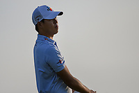Si Woo Kim (KOR) watches his tee shot on 11 during day 1 of the Valero Texas Open, at the TPC San Antonio Oaks Course, San Antonio, Texas, USA. 4/4/2019.<br /> Picture: Golffile | Ken Murray<br /> <br /> <br /> All photo usage must carry mandatory copyright credit (© Golffile | Ken Murray)