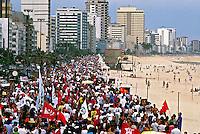 Manifestação contra a corrupção no governo FHC. Rio de Janeiro. 1993. Foto de Ricardo Azoury.