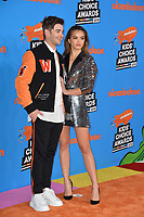Jack Griffo &amp; Paris Berelc at Nickelodeon's 2018 Kids' Choice Awards at The Forum, Los Angeles, USA 24 March 2018<br /> Picture: Paul Smith/Featureflash/SilverHub 0208 004 5359 sales@silverhubmedia.com