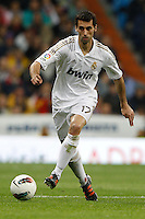 14.04.2012 SPAIN -  La Liga matchday 34th  match played between Real Madrid CF vs Real Sporting de Gijon (3-1) at Santiago Bernabeu stadium. The picture show Alvaro Arbeloa Coca (Spanish defender of Real Madrid)