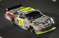 Oct. 17, 2009; Concord, NC, USA; NASCAR Sprint Cup Series driver Jeff Gordon during the NASCAR Banking 500 at Lowes Motor Speedway. Mandatory Credit: Mark J. Rebilas-