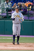 April 11, 2009:  University of California-Berkeley outfielder Brett Jackson at-bat during a Pac-10 game against the University of Washington at Husky Ballpark in Seattle, Washington.