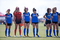 Oceanside, CA - June 22, 2019: U.S. Soccer Development Academy Girl's Showcase at the SoCal Sports Complex.