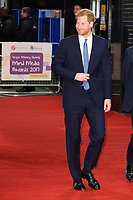 Prince Harry<br /> arriving for the Giving Mind Media Awards 2017 at the Odeon Leicester Square, London<br /> <br /> <br /> ©Ash Knotek  D3350  13/11/2017