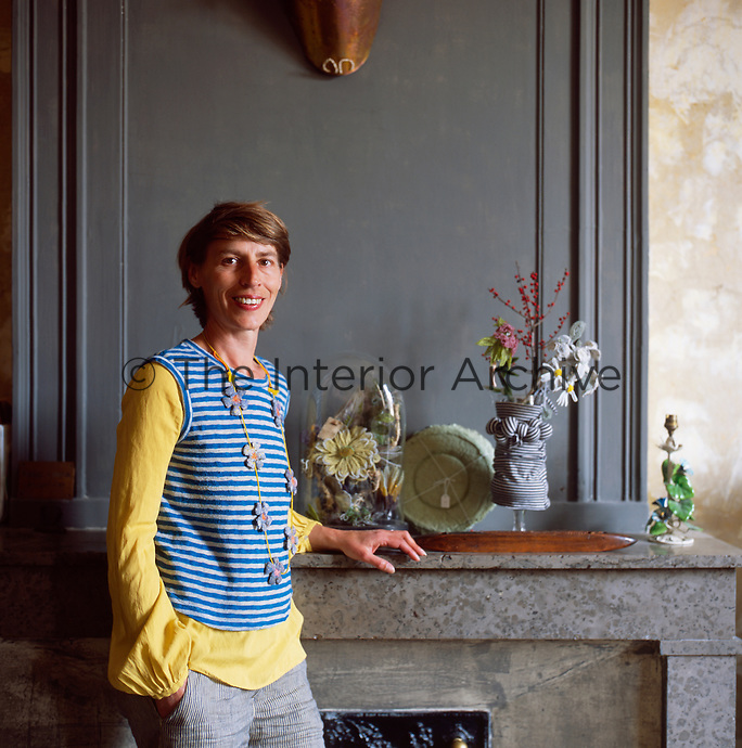 Myriam Balay Devidal, a French designer creating unique pieces and objects inside her apartment in Nimes, France