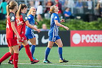 Boston, MA - Sunday September 10, 2017: Natasha Dowie reacts during a regular season National Women's Soccer League (NWSL) match between the Boston Breakers and Portland Thorns FC at Jordan Field.