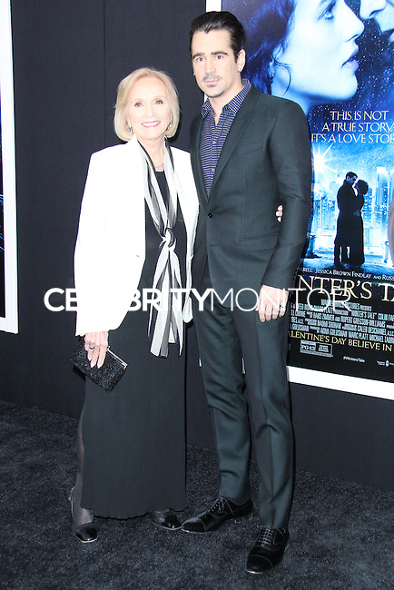 """NEW YORK, NY - FEBRUARY 11: Eva Marie Saint, Colin Farrell at the World Premiere Of Warner Bros. Pictures' """"Winter's Tale"""" held at Ziegfeld Theatre on February 11, 2014 in New York City. (Photo by Jeffery Duran/Celebrity Monitor)"""