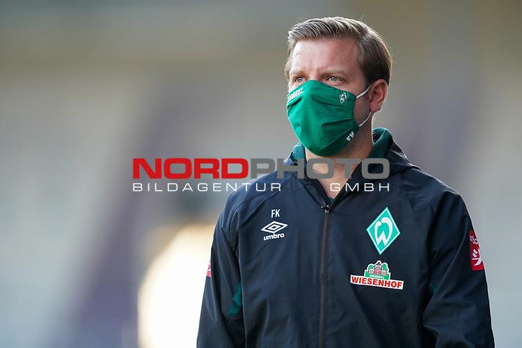 Florian Kohfeldt (Trainer SV Werder Bremen), mit CORONA Gesichtsmaske<br /> <br /> <br /> Sport: nphgm001: Fussball: 1. Bundesliga: Saison 19/20: Relegation 02; 1.FC Heidenheim vs SV Werder Bremen - 06.07.2020<br /> <br /> Foto: gumzmedia/nordphoto/POOL <br /> <br /> DFL regulations prohibit any use of photographs as image sequences and/or quasi-video.<br /> EDITORIAL USE ONLY<br /> National and international News-Agencies OUT.