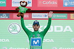 Alejandro Valverde (ESP) Movistar Team retains the Green Jersey at the end of Stage 9 of the La Vuelta 2018, running 200.8km from Talavera de la Reina to La Covatilla, Spain. 2nd September 2018.<br /> Picture: Unipublic/Photogomezsport | Cyclefile<br /> <br /> <br /> All photos usage must carry mandatory copyright credit (&copy; Cyclefile | Unipublic/Photogomezsport)
