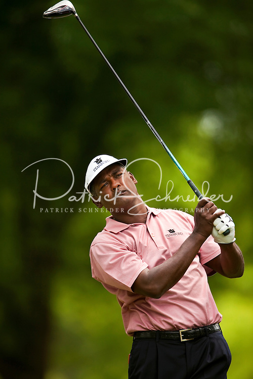 Golfer Vijay Singh plays the course during the Quail Hollow Championship golf tournament 2009. The event, formerly called the Wachovia Championship, is a top event on the PGA Tour, attracting such popular golf icons as Tiger Woods, Vijay Singh and Bubba Watson. Photo from the first round in the Quail Hollow Championship golf tournament at the Quail Hollow Club in Charlotte, N.C., Thursday, April 30, 2009.