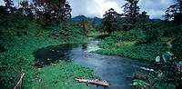 March 13th 2004_ Tutuala, Timor-Leste_ The Ira Sequiro River flows south through the forest from Lake Ira Lalaro to the coast.   Daniel J. Groshong/Tayo Photo Group