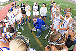Torrance, CA 05/09/13 - Agoura coach Rob Fiance addresses the Agoura team before the start of the Los Angeles finals against Oak Park. in action during the 2013 Los Angeles area Girls Varsity Lacrosse Championship.  Agoura defeated Oak Park 13-7.