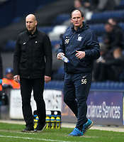 Preston North End's Manager Simon Grayson and Reading's Manager Jaap Stam <br /> <br /> Photographer Mick Walker/CameraSport<br /> <br /> The EFL Sky Bet Championship - Preston North End v Reading - Saturday 11th March 2017 - Deepdale - Preston<br /> <br /> World Copyright &copy; 2017 CameraSport. All rights reserved. 43 Linden Ave. Countesthorpe. Leicester. England. LE8 5PG - Tel: +44 (0) 116 277 4147 - admin@camerasport.com - www.camerasport.com